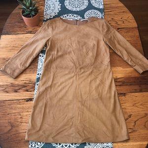 Alice + Olivia Leather Suede Dress